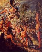 Adam  Elsheimer The Stoning of St.Stephen oil painting
