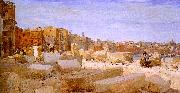 Giovanni   Giacometti Stonebreakers at Lungotevere oil painting artist