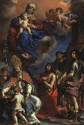 Giovanni Francesco  Guercino Virgin and Child with the Patron Saints of Modena oil painting artist