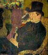 Henri  Toulouse-Lautrec Portrait of Monsieur Delaporte at the Jardin de Paris oil painting picture wholesale