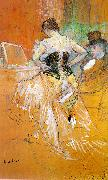 Henri  Toulouse-Lautrec Woman in a Corset (Study for Elles) oil painting picture wholesale