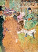 Henri  Toulouse-Lautrec The Beginning of the Quadrille at the Moulin Rouge oil painting picture wholesale