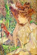 Henri  Toulouse-Lautrec Honorine Platzer (Woman with Gloves) oil painting picture wholesale