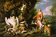 Jan  Fyt Diana with her Hunting Dogs Beside the Kill oil painting