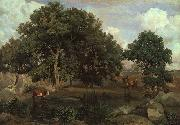 Jean Baptiste Camille  Corot Forest of Fontainebleau Spain oil painting reproduction