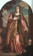Paolo  Veronese St Lucy and a Donor oil painting artist