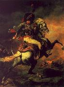 Theodore   Gericault Officer of the Hussars oil painting artist