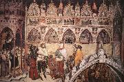 ALTICHIERO da Zevio Virgin Being Worshipped by Members of the Cavalli Family oil painting