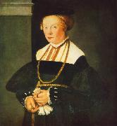 AMBERGER, Christoph Portrait of Felicitas Seiler oil