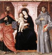 ANTONIAZZO ROMANO Madonna Enthroned with the Infant Christ and Saints jj oil painting picture wholesale