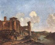 ASSELYN, Jan Italian Landscape with SS. Giovanni e Paolo in Rome oil