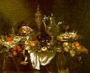 Abraham Hendrickz van Beyeren Banquet Still Life Spain oil painting reproduction
