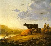 Aelbert Cuyp Young Herdsman with Cows by a River oil