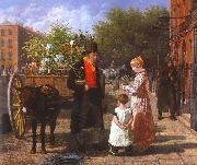 Agasse, Jacques-Laurent The Flower Seller oil painting artist