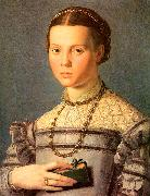 Agnolo Bronzino Portrait of a Young Girl with a Prayer Book oil