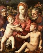 Agnolo Bronzino Holy Family with St.Anne and the Infant St.John oil