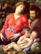 Agnolo Bronzino The Panciatichi Holy Family oil