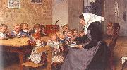 Albert Anker The Creche oil painting artist