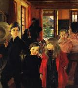 Albert Besnard A Family oil painting