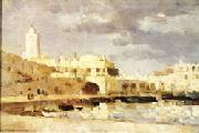 Albert Lebourg The Port of Algiers oil