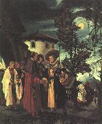 Albrecht Altdorfer The Departure of Saint Florian oil