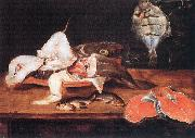 Alexander Still-Life with Fish oil painting artist