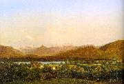 Alexandre Calame View of Geneva from Petit-Saconnex oil