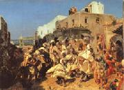 Alfred Dehodencq Blacks Dancing in Tangiers oil painting picture wholesale