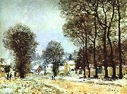Alfred Sisley Snow at Louveciennes oil painting picture wholesale