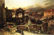 Alphonse de neuville The Cemetery at St.Privat oil painting picture wholesale