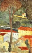 Amedeo Modigliani landscape at cagnes oil painting picture wholesale