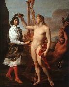 Andrea Sacchi Marcantonio Pasquilini Crowned by Apollo oil