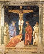 Andrea del Castagno Crucifixion and Saints oil painting artist