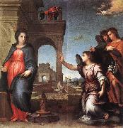 Andrea del Sarto The Annunciation f7 oil painting artist