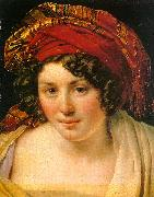 Anne-Louis Girodet-Trioson A Woman in a Turban oil painting artist
