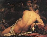 Annibale Carracci Venus with Satyr and Cupid oil painting artist