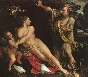 Annibale Carracci Venus, Adonis and Cupid Spain oil painting artist