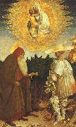 Antonio Pisanello The Virgin and the Child with Saints George and Anthony Abbot oil