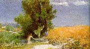 Arnold Bocklin Nymphs Bathing Spain oil painting reproduction