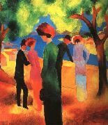 August Macke Woman in a Green Jacket oil painting picture wholesale