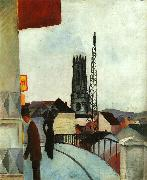 August Macke Cathedral at Freiburg, Switzerland oil painting picture wholesale