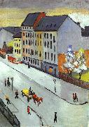 August Macke Our Street in Gray oil painting picture wholesale