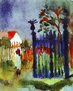 August Macke Garden Gate oil painting picture wholesale