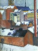 August Macke St.Mary's in the Snow oil