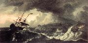 BACKHUYSEN, Ludolf Ships Running Aground in a Storm  hh oil painting artist
