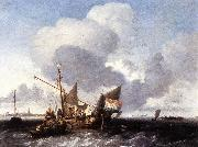 BACKHUYSEN, Ludolf Ships on the Zuiderzee before the Fort of Naarden fgg oil painting artist