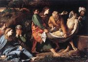 BADALOCCHIO, Sisto The Entombment of Christ hhh oil painting