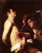 BAGLIONE, Giovanni St Sebastian Healed by an Angel  ed oil painting picture wholesale