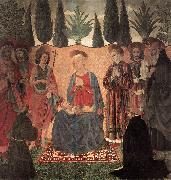 BALDOVINETTI, Alessio Madonna and Child with Saints ghg oil
