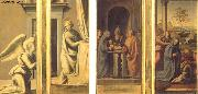 BARTOLOMEO, Fra The Annunciation (front), Circumcision and Nativity (back) oil painting
